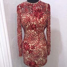 Dress Sheri Hill long sleeved cocktail.  Worn 2X Sherri Hill Dresses