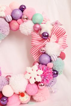 Pink Wreath ! I'm dreaming of a pink #Christmas