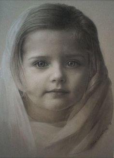John Schaeffer - Black and White Charcoal Portrait