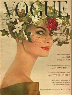 Vintage Vogue cover strong red lips never go out of fashion Vogue Vintage, Vintage Vogue Covers, Look Vintage, Vintage Mode, Retro Vintage, Fashion Vintage, Vintage Couture, Vintage Hats, Retro Fashion