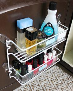 Hi Sugarplum | Using command hooks to hang racks on cabinets doors