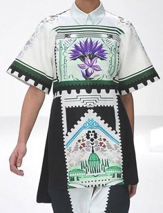 patternprints journal: POSTCARDS AND CURRENCIES INTO INCREDIBLE PRINTS FROM MARY KATRANTZOU S/S 2013 COLLECTION