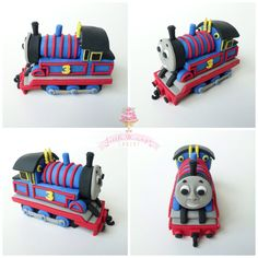 Thomas the Train cake topper by Little Hunnys Cakery (all fondant)