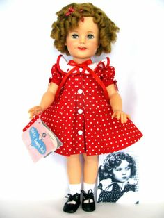 """New 19"""" Shirley Temple Doll Dress Panties Hair Ribbon Outfit Only 