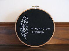 Wingardium Leviosa  Harry Potter  Embroidery Hoop by Nerdcrafteria, $30.00