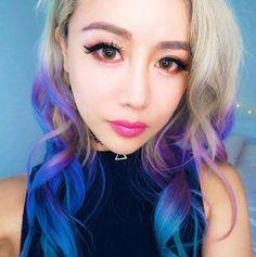 Who loves Wwe - Modern Down Hairstyles, Cute Hairstyles, Wengie Hair, Pink Purple Hair, Camping Hair, Gorgeous Hair, Beautiful, Rainbow Hair, Fashion Tips For Women