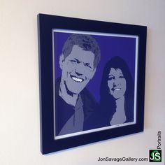 Here's one of our customer's artwork for Valentine's Day gift. #postvalentine #valentine #love #gift #personalized #portrait #couples #purple #romance #art #artist #popart #popartist #jonsavagegallery