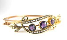 Art Nouveau Bracelet 10k Rose and Yellow Gold by hipcricket, $150.00