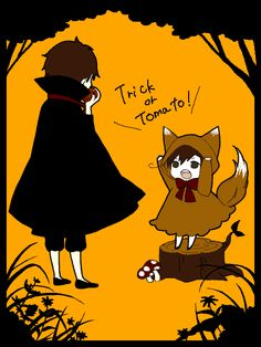 Hetalia- Spain and Chibi!Romano. Trick or Tomato!