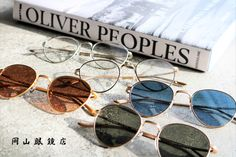 OLIVER PEOPLES THE ROW BROWNSTONE 2 OPTICAL & SUNGLASSES 岡山眼鏡店 Oliver Peoples, The Row, Round Sunglasses, Fashion, Eyeglasses, Moda, Round Frame Sunglasses, Fashion Styles, Fashion Illustrations