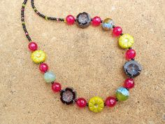 Faceted Agate and Czech Glass Necklace £12.50