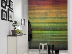 Find the perfect wall mural with pattern for your project in our wide selection of pattern wall mural designs. Free worldwide delivery and wallpaper p Decor, Striped Curtains, Wallpaper, Wall Murals, Printed Shower Curtain, Wall, Colorful Wallpaper, Wall Patterns, Contemporary Rug