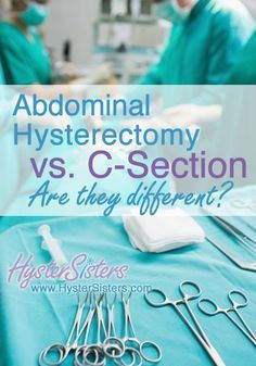 Abdominal Hysterectomy vs. C-Section   Pre-Op Hysterectomy Article   HysterSisters