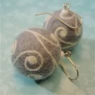 Bildergebnis für felted earrings
