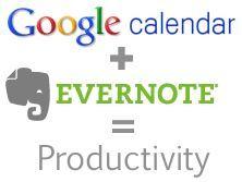GoogleCal + Evernote
