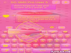 GO SMS Pink Love  Android App - playslack.com , *** GENERAL INSTRUCTIONS ***To use this application you first need to install GO SMS Pro. *** How to apply this theme? 1) Install theme -> Press the 'Open' button -> Go to Installed Category -> Choose your theme -> Select 'Apply' -> Done!or2) From our menu please press 'Apply Theme' -> 'Menu' button -> 'Themes'-> 'Installed' -> GO SMS Pro Pink Love***Bugs, suggestions and supportIf the theme doesn't apply correctly…