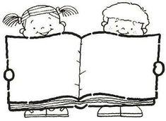 22 DESENHOS DE VOLTA ÀS AULAS PARA COLORIR, PINTAR, IMPRIMIR - ESPAÇO EDUCAR DESENHOS PINTAR COLORIR IMPRIMIR Drawing School, Drawing For Kids, Colouring Pages, Printable Coloring Pages, Library Drawing, Charlie E Lola, Birthday Charts, Doodle Frames, School Frame