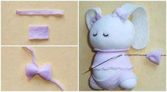 How to DIY Adorable Sock Bunny Tutorial | www.FabArtDIY.com