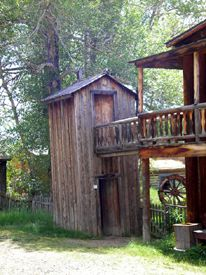 Double decker outhouse in Nevada City, Montana, 2008