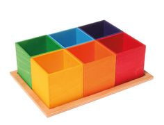 Grimm's Sorting Boxes Small - Honeybee Toys