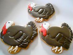 #Thanksgiving #Turkey Cookies via #TheCookieCutterCompany