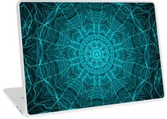 Blue Webbing Kaleidoscope Pattern   Design available for PC Laptop, MacBook Air, MacBook Pro, & MacBook Retina