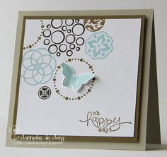 Design layout circle stampin up ideas Square Card, Friendship Cards, Small Cards, Butterfly Cards, Pretty Cards, Paper Cards, Cool Cards, Creative Cards, Homemade Cards