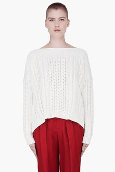 MARC BY MARC JACOBS Ivory Knit Geraldine Sweater