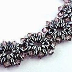 Di Linda Crafty Ispirazioni: Bracciale del giorno: Duo Bobble banda - Lavender & argento