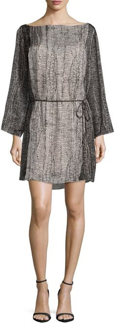HALSTON HERITAGE LONG-SLEEVE BELTED CAFTAN, EGGSHELL. WAS $103 NOW $72.10 by Halston at Last Call by Neiman Marcus. CLICK IMAGE TO VIEW OR SHOP