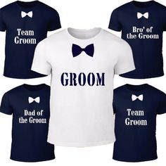 Personalized Groom tshirt navy - Groommen Shirt - Bachelor Party - Groom shirt - Bachelor tshirt - Bowtie shirt - Groom top - wedding shirt by BIGOUDIBIGOUDA on Etsy