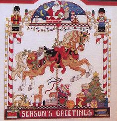 Donna Kooler Carousel Horses In Cross-Stitch - Book of Counted Cross Stitch Patterns & Charts