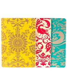 'Jewel' Set of 3 Blank Notebooks