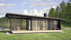 Modern Tiny House, Modern Cottage, Container House Design, Small House Design, Small Log Cabin, Rest House, Shed Homes, Modern Backyard, Backyard Retreat