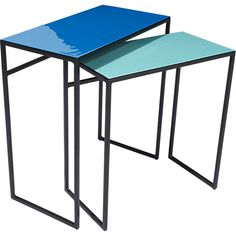 neptune tables set of two in view all furniture Plant Table, A Table, Table Furniture, Furniture Design, Sunroom Furniture, Affordable Modern Furniture, Modern Side Table, Nesting Tables, Florida Home