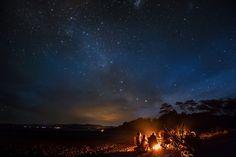 Stunning starry sky over Golden Bay, New Zealand