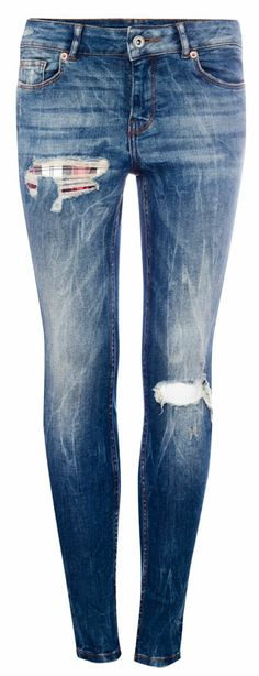 :JEANS PITILLO ROTOS PARCHES CUADROS