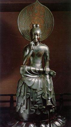 Hanka Shiyui statue century AD) 半跏思惟像(中宮寺) National Treasure of Japan. Buddha Buddhism, Buddhist Art, Buddha Sculpture, Sculpture Art, Spiritus, Art Japonais, National Treasure, Japan Art, Sacred Art
