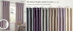 Ella Velvet Header Eyelet Curtains