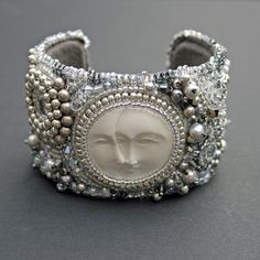 Love this beaded cuff...there are a lot of beaded jewelry these days.