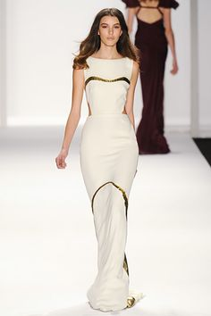 "♥ J.Mendel Fall 2012 RTW ❁❁❁ **<>**✮✮""Feel free to share on Pinterest""✮✮"" #fashion  www.fashionandclothingblog.com"