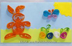 Carte de Pâques en quilling ou comment faire un lapin en papier roulé