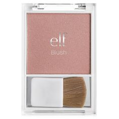 e.l.f. Essential Blush in Innocence. This is way too shimmery for me and it accentuated my pores and clogged my pores. Thumbs down.
