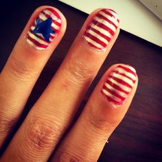 July fourth nails