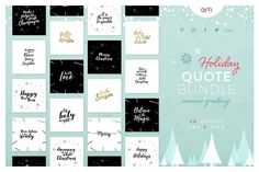 Holiday Quote Bundle by AM Studio on @creativemarket