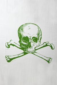 Skull Towel in Green