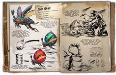800px-Dossier JugBug Weird Creatures, Magical Creatures, Fantasy Creatures, Creature Concept Art, Creature Design, Game Ark Survival Evolved, Dino Park, Dinosaur Photo, Survival Books
