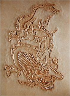 leather carved dragon --  http://www.sedlarstvi-brasnarstvi.cz