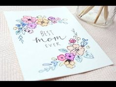 Creating a Greeting Card (Mixed Media Illustration) - YouTube