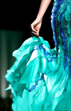 chiffon and ribbons    Fausto Sarli Couture S/S 2011